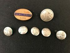 Collection Vintage Railywayana - L.M.S Badge & NFS LMS LNE Buttons