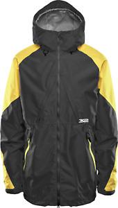 Snowboard Ski Jacket Insulated Mens Large Black / Yellow Thirtytwo Lashed 2020