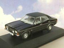 Corgi Vanguards 1/43 1976 Ford Cortina MK3 Mkiii 2000E Negro/Gris Interior