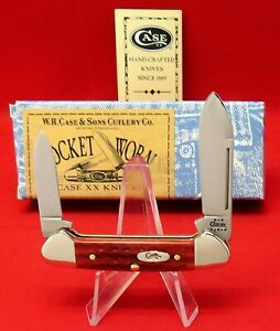 Case XX 62132 SS Baby Butterbean Old Red Bone 2002 Mint Knife Orig Box #00724