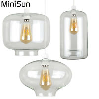MiniSun Clear Glass Easy Fit LED Ceiling Pendant Light Shade Lampshades Lighting