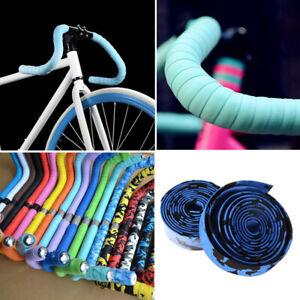 2× BICYCLE HANDLEBAR DROP BAR TAPE/WRAP RUBBER CYCLING ROAD BIKE HANDLEBAR TAPE