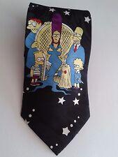 """Cravatta """"THE SIMPSON FAMILY"""" Originale anni '80 Collezione Rara Introvabile"""