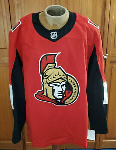 OTTAWA SENATORS ADIDAS GAME TEAM ISSUE MADE IN CANADA PRO HOCKEY JERSEY SIZE 56