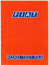 Fiat Panda Uno Regata Croma Road Tests 1986-87 UK Market Sales Brochure