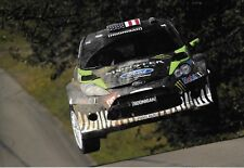 Ken Block SIGNED,12x8  Monster RS Ford Fiesta WRC , Rally Germany  2011
