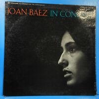 JOAN BAEZ IN CONCERT PART 1 LP 1962 ORIGINAL PRESS GREAT CONDITION! VG+/VG+!!C