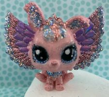 OOAK LPS Littlest Pet Shop Bunny Rabbit Glitter Wings Hand Painted Custom