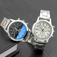 Fashion Analog Mens Watch Hook Buckle Stainless Steel Quartz Wrist Watch Cheap