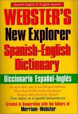 Webster's New Explorer Spanish-English Dictionary, Merriam-Webster, Good Book