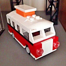 LEGO MINI T1 VOLKSWAGEN CAMPER VAN 40079 Set Sculptures No VW Sticker Red