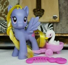My Little Pony FiM G4 ~Lily Blossom~ Pet Swan Wagon Comb Accessories Playful Lot