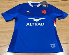 Maillot Rugby #10 Ntamack match Equipe Pays de Galles - France 6 Nations 2020 L