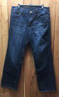 Lucky Brand Mens Dark Wash Blue  Denim Jeans 100% Cotton 34