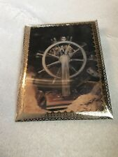 Pirates of the Caribbean Lenticular Card Skeleton At Ships Wheel W Stand disney