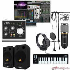 Home Recording Pro Tools Bundle Studio Package Midi32 Behringer Audient iD4