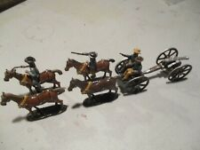 54mm glossy ACW Confederate gun and limber set