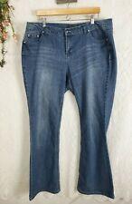 Womens Jeans Size 18w Baccini Embellished Pockets medium wash