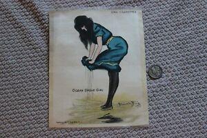 1900s Zira Cigarettes large silk tobacco premium - Ocean Grove Girl