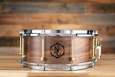 NOBLE & COOLEY 14 X 6 SS CLASSIC SOLID SHELL WALNUT SNARE DRUM, CLEAR OIL, WOOD