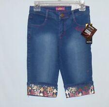 SouthPole Girls Embellished Denim Capri Jeans Medium Sand Blue Twelve (12) NWT