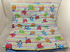 """Baby Blanket Quilt Looney Tunes Bugs Bunny Taz Tweety Sylvester About 34"""" x 42"""""""