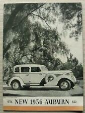AUBURN 654 & 852 MODELS USA Car Sales Brochure 1936 SEDAN Cabriolet BROUGHAM +