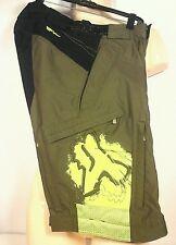 Fox Racing Motocross  Waterproof Shorts Mens Olive Green  Size 30 Rare!