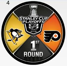 PITTSBURGH PENGUINS PHILADELPHIA FLYERS 2018 PLAYOFF PUCK 1ST ROUND STANLEY CUP