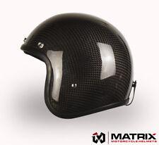 Matrix Jet Carbon Gloss Black  Motorcycle helmet Bandit style Large