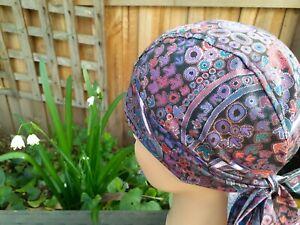 Aboriginal design FITTED Bandana, Skull CAP, Indigenous Hat, Scrubs, 100% cotton