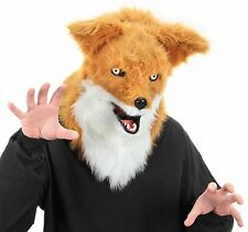 Mouth Mover Fox Mask Furry Fuzzy Overhead Costume Adult Teen Animal Group