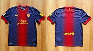FC BARCELONA 2012/2013 kit Adult NIKE shirt jersey Size M AUTHENTIC soccer BARCA
