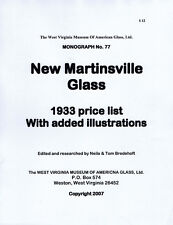 New Martinsville Glass 1933 Price List & Illustrations