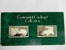 1909 Buick & 1909 Ford centennial car ingot collection Franklin mint