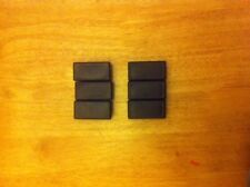 6 of  50mm x 25 mm square outside dimension Plastic End Caps for metal tube