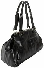 NWT Black Leather Hobo International Sophie Satchel Handbag