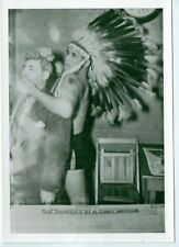 VINTAGE PHOTO WRESTLER CHIEF THUNDERCLOUD AND SID
