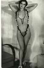 f 95 # Photo ca 1960 nude Pin-up nus Akt nackt Erotik Busen busty breasts Nylon
