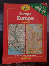 ATLAS EUROPE HALLWAG 1987 ARTBOOK by PN