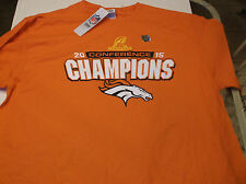 Denver Broncos  NFL Team Apparel 2015 AFC Conference Champion shirt  L