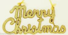 Guirlandes et bannières de fête dorés noël pour la maison