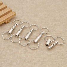 Handy Quick Release Key Chain Pull-Apart Key Removable  Snap Lock Holder 5pcs