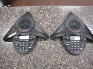 Lot of (2) Polycom SoundStation 2W 2.4GHz Conference Phones 2201-67800-022