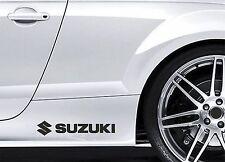 2x Side Skirt Stickers fits Suzuki Logo Swift Car Graphics Premium Decals BL97