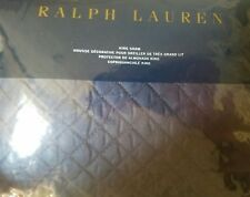 New Ralph Lauren Wyatt Polo Navy King Pillow Sham