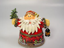 Santa Claus Figure trinket box Christmas decoration Cake topper display