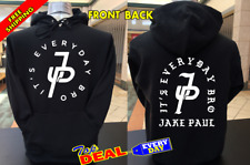Jake Paul Its Every Day Bro! Black hoodie front & back
