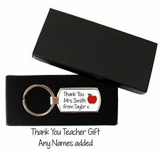 Personalised Teacher End Of Year Leaving  Keyring Metal Key ring With Gift Box