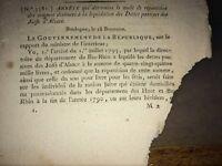 JUDAICA. LIQUIDATION PASSIVE DES DETTES DES JUIFS D'ALSACE, An XI (1803).